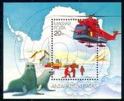 Hungary 1987 Antarctic/ Polar Research Base/ Helicopter/ Seals/ Radio/ Transport/ Aviation 1v m/s (n29409)