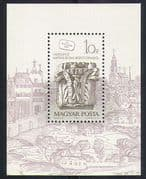 Hungary 1987 Stamp Day/ Buda Castle/ Carvings/ Art/ Architecture/ Buildings 1v m/s (n32366)