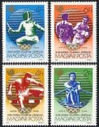 Hungary 1988 Olympic Games  /  Sports  /  Olympics  /  Fencing  /  Rowing  /  Boxing 4v set (n40279)