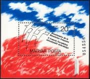 Hungary 1989 French Revolution/ Birds/ Candle/ Flame/ Animation/ History/ Politics 1v m/s (n32368)