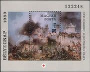 Hungary 1989 Red Cross/ Battle of Solferino/ Medical/ Health/ Welfare/ Art/ Painting/ Artists/ Painters 1v m/s( n32365)