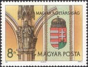 Hungary 1990 New State Arms/ St Stephen/ Heraldry/ Coat-of-Arms/ Statue 1v (n46212)
