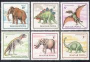 Hungary 1990 Prehistoric Animals  /  Dinosaurs  /  Mammoth  /  Reptiles  /  Nature 6v set s2812