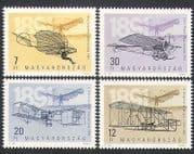 Hungary 1991 Aircraft  /  Planes  /  Aviation  /  Flight  /  History  /  transport 4v set (n34951)