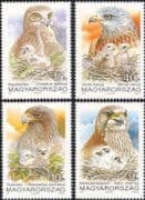 Hungary 1992 Raptors/ Eagles/ Red Kite/ Saker Falcon/ Birds /Nature/ Wildlife 4v set (n45134)