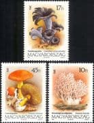 Hungary 1993 Fungi/ Mushrooms/ Nature/ Plants 3v set (n45140)