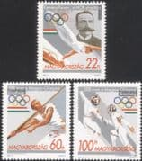 Hungary 1995 Olympic Games/ Sports/ Olympics/ Fencing/ Gymnastics 3v set (n45575)