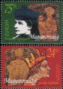Hungary 1996  Europa/ Famous Women/ Hungarian Queens/ Royalty/ People  2v set (hx1108)