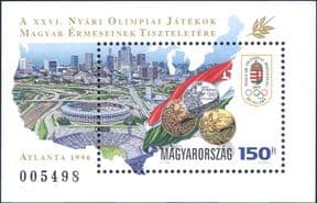 Hungary 1996  Olympic Games/ Winners Medals/ Sports/ Olympics  1v m/s  (hx1112)