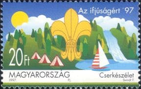 Hungary 1997  Scouting 90th Anniversary/ Scouts/ Sailing/ Camp/ Youth  1v  (hx1210)
