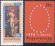 Hungary 1998  Easter /El Greco/ Artists/ Art/ Painters /Painting  2v set  (hx1127)