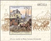 Hungary 1999 Stamp Day/ Mail Coach/ Horses/ Postal Transport/ Post/ Heritage/ History 1v m/s (n45187)