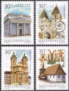 Hungary 2000 Churches/ Buildings/ Architecture/ Religion/ History 4v set (n45791)