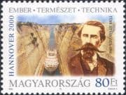 """Hungary 2000 """"EXPO 2000""""/ Istvan Turr/ Canal/ Ship/ Boats/ Transport/ Engineer/ People  1v  (hx1243)"""