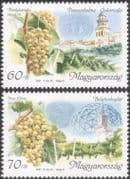 Hungary 2001 Wine Making/ Alcohol/ Drink/ Grapes/ Plants/ Buildings/ Food/ Business/ Commerce 2v set (n45540)