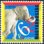 Hungary 2002 Europa/ Circus/ Elephant/ Animals/ Nature 1v (s1074a)