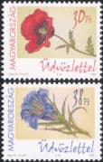 Hungary 2002 Greetings/ Flowers/ Plants/ Nature/ Poppy/ Poppies/ Gentian 2v set (s795)