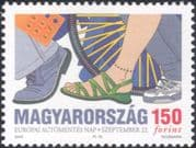 "Hungary 2003 ""Car-free Day""/ Bike/ Bicycle/ Cycling/ Bikes/ Walking/ Shoes/ Transport 1v (n45544)"