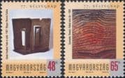 Hungary 2004  Artists/ Paintings/ Modern Art/ Abstract/ Stamp Day  2v set  (hx1241)