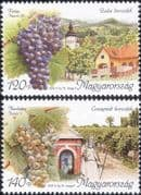 Hungary 2005 Wine Making/ Alcohol/ Drink/ Grapes/ Plants/ Buildings/ Food/ Business 2v set n45542