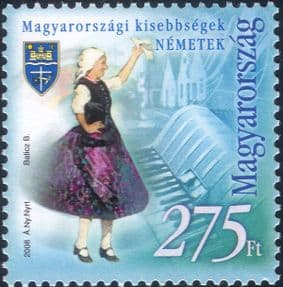 Hungary 2008  German/ People/ Dress/ Costumes/ Clothes/ Accordion/ Music  1v  (hx1176)