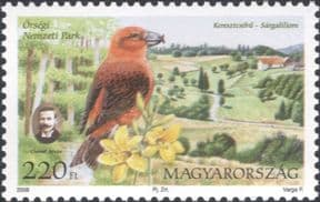 Hungary 2008  National Parks/ Crossbill/ Lily/ Birds/ Flowers/ Nature/ People  1v (hx1170)
