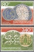 Hungary 2010 Embroidery/ Crafts/ Textiles/ Design/ Business/ Commerce 2v set (n45730)