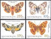 Hungary 2011 Butterflies/ Moths/ Nature/ Insects/ Butterfly/ Conservation/ Moth 4v set (n45153)