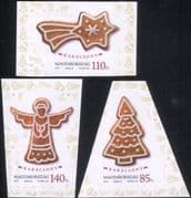Hungary 2013 Christmas/ Greetings/ Gingerbread/ Angel/ Tree/ Star 3v s/a set (n45138)
