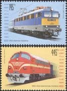 Hungary 2013 Locomotives/ Diesel/ Electric Trains/ Rail/ Railways/ Transport 2v set (n45112)