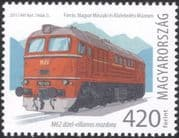 Hungary 2015 Locomotives/ Diesel/ Trains/ Rail/ Railways/ Transport 1v (n45114)