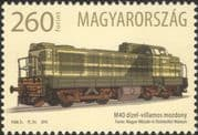 Hungary 2016 Locomotives/ Diesel/ Trains/ Rail/ Railways/ Transport 1v (n45116)