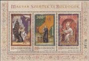 Hungary 2018  Saints & Blesseds/ Religion/ Art/ Paintings/ People/ Books/ Writing 3v m/s (hx1086)