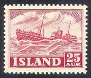 Iceland 1950 Boat  /  Fishing Industry  /  Trawler  /  Transport  /  Commerce 1v (n30521)