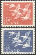 Iceland 1956 Northern Countries Day/ Whooper Swans/ Birds/ Nature 2v set (n41928)