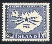 Iceland 1956 Telegraph  /  Communications  /  Telecomms  /  Map  /  Animation 1v (n34501)