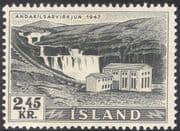 Iceland 1956 Waterfall/ Hydro-Electric Power Plant/ Electricity/ Energy/ Buildings/ Architecture/ Waterfalls/ Falls 1v (n30518)
