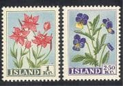 Iceland 1958 Flowers  /  Plants  /  Nature 2v set (n10587)