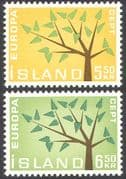 Iceland 1962 Europa/ Trees/ Plants/ Nature/ Animation 2v set (n41353)