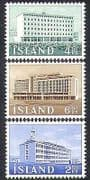 Iceland 1962 Institute  /  Agriculture  /  Buildings  /  Architecture 3v set (n37871)