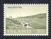 Iceland 1963 Akureyri  /  Views  /  Harbour  /  Buildings  /  Mountains 1v (n37159)