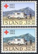 Iceland 1963 Medical/ Ambulance/ Red Cross/ Welfare/ Health/ Transport 2v set  n23958