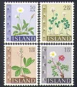 Iceland 1964 Wild Flowers  /  Buttercup  /  Clover  /  Plants  /  Nature 4v set (n38170)