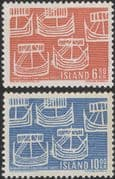 Iceland 1969 Northern Countries Union/ Nordic/ Viking Ships/ Longboats 2v (n45309d)