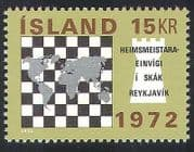 Iceland 1972 Chess  /  Piece  /  World Map  /  Sport  /  Chessmen  /  Pieces 1v (n23544)