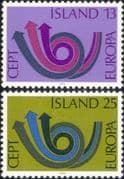 Iceland 1973 Europa/ CEPT/ Communication/ Posthorn/ Arrows/ Animation 2v set (ex1060)