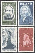 Iceland 1975 Famous People/ Poet/ Painter/ Historian/ Politician 4v set (n41352)