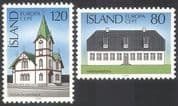 Iceland 1978 Europa /Buildings/ Architecture/ Church/ Mansion/ Architects 2v (n41359)