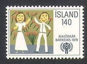 Iceland 1979 IYC  /  Children  /  Animation  /  Art  /  Painting  /  Welfare  /  UN 1v (n36273)