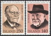 Iceland 1980 Europa/ People/ Writing/  Writers/ Books/ Literature 2v set (n41356)